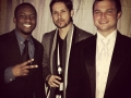 Rapper Matt Monday, Mike Santos and Guest at the Rose Ball 2015 NYE