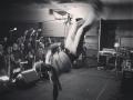 Kyle Johnson breakdancing at the Rose Ball NYE 2015